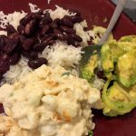 Rice, beans, avocado recipe